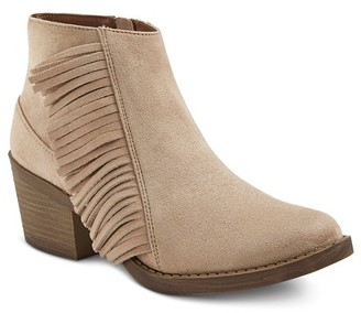 Mossimo Supply Co Women's Fringed Reza Ankle Booties - Moss Supply Co $37.99 thestylecure.com