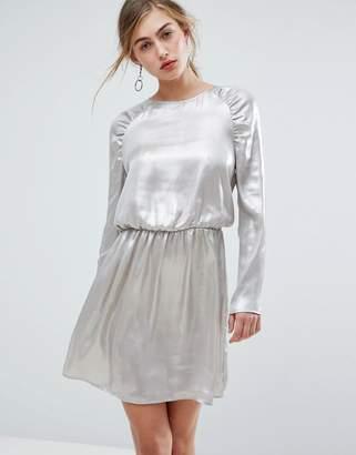 Ivyrevel Long Sleeved Ruched Shoulder Mini Dress