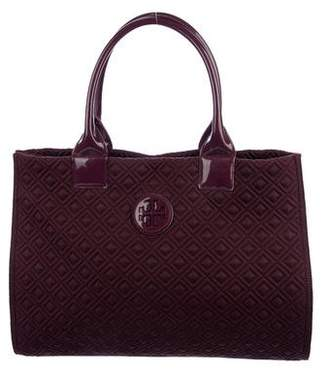 Tory Burch Patent Leather-Trimmed Nylon Tote