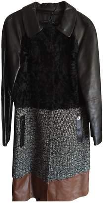 Longchamp Black Wool Coat for Women