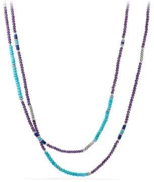 David Yurman Tweejoux® Bead Necklace In Amethyst, Turquoise, And
