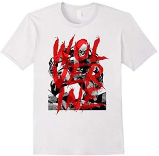 Marvel X-Men Wolverine Sees Red Graffiti Graphic T-Shirt