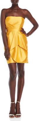 Shoshanna Orly Satin Strapless Mini Dress