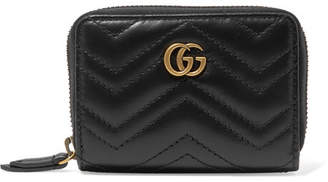 931559bce47 Gucci Gg Marmont Quilted Leather Wallet - Black