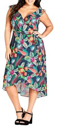 City Chic Jungle Jam High/Low Dress