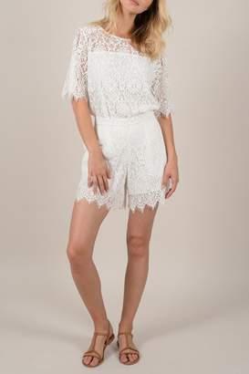 Molly Bracken White Lace Shorts