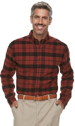 Croft & Barrow Men's Classic-Fit Patterned Flannel Button-Down Shirt