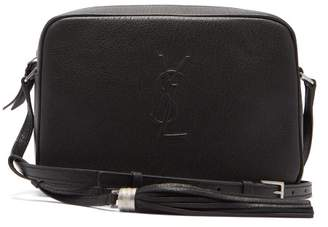 Saint Laurent Lou Medium Leather Cross Body Bag - Womens - Black