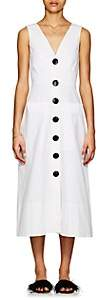 Saloni Women's Charlotte Cotton Sateen Midi-Dress-White