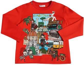 Dolce & Gabbana Ciao Italia Jersey Long Sleeve T-Shirt