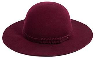 Church's Jeff & Aimy 100% Wool Felt Pork Pie Hat Women Winter Fedora Party Derby Hats with Brim Top Stylish Burgundy