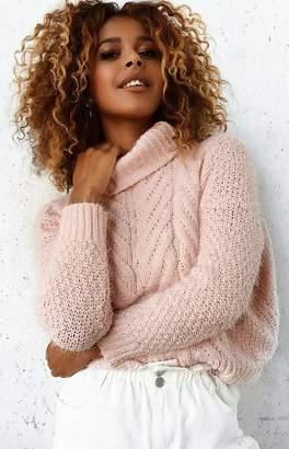 b357830965e5b Beginning Boutique Pearl Knit Turtleneck Jumper Baby Pink