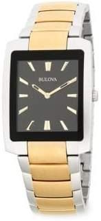 Bulova Two-Tone Stainless Steel Bracelet Watch