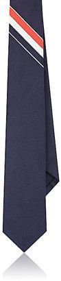 Thom Browne Men's Tricolor Stripe Silk-Cotton Skinny Necktie $215 thestylecure.com