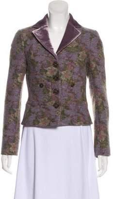 Etro Tweed Printed Blazer