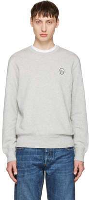 Alexander McQueen Grey Bullion Skull Patch Sweatshirt