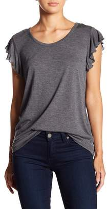 14th & Union Flutter Sleeve Scoop Neck Tee (Petite Size Available)