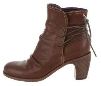 Fiorentini+Baker Leather Lace-Up Ankle Boots