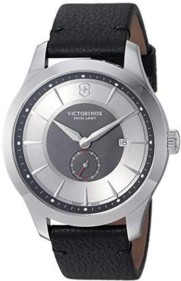 Victorinox Men's 'Alliance' Swiss Quartz Stainless Steel and Leather Casual Watch