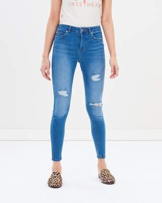 Miss Selfridge Lizzie Berry High Waist Skinny Jeans