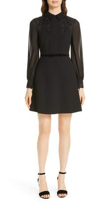 Ted Baker Amaali Lace Applique Fit & Flare Dress