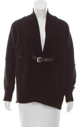 Michael Kors Buckled Long Sleeve Cardigan