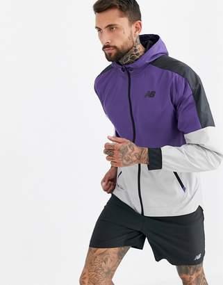 New Balance running velocity jacket in purple