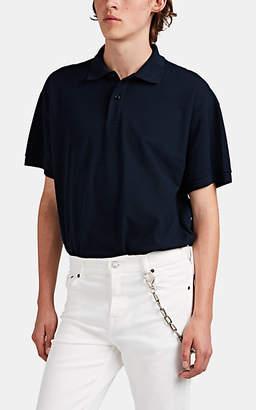 aa72635e5e71 Balenciaga Men's Logo-Embroidered Cotton Oversized Polo Shirt - Blue