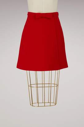 Miu Miu Wool trapeze skirt