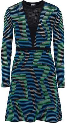 5ff1ddca4d COM · M Missoni Mesh-Paneled Intarsia-Knit Mini Dress