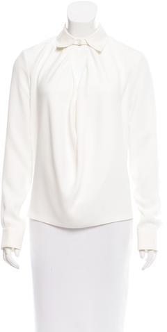 Balenciaga Balenciaga Draped Long Sleeve Blouse