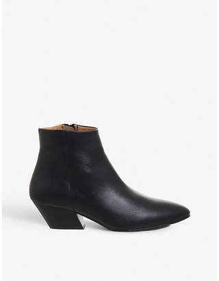 Office Atone western block heel leather boots