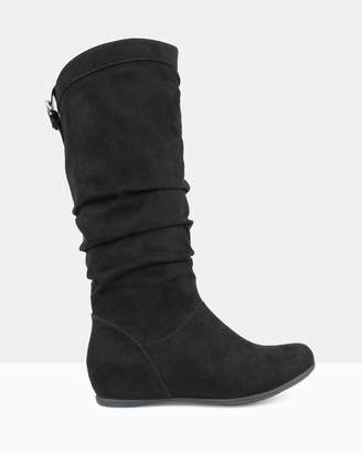 betts Oxley Ruched Knee-High Boots