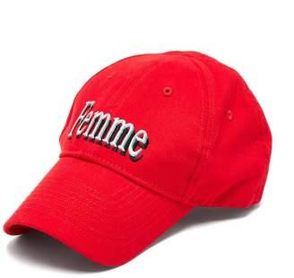 Balenciaga Femme-embroidered cotton cap