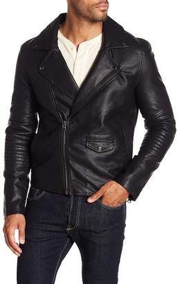 Blank NYC BLANKNYC Denim Head Banger Faux Leather Moto Jacket