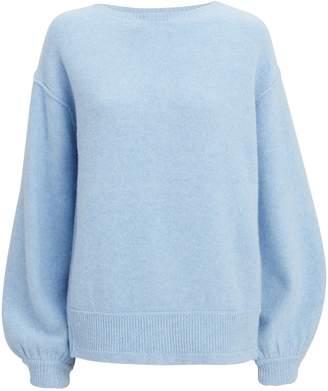 Helmut Lang Balloon Sleeve Pullover Blue Sweater