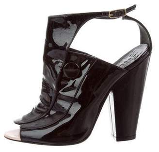 Givenchy Patent Leather Peep-Toe Sandals