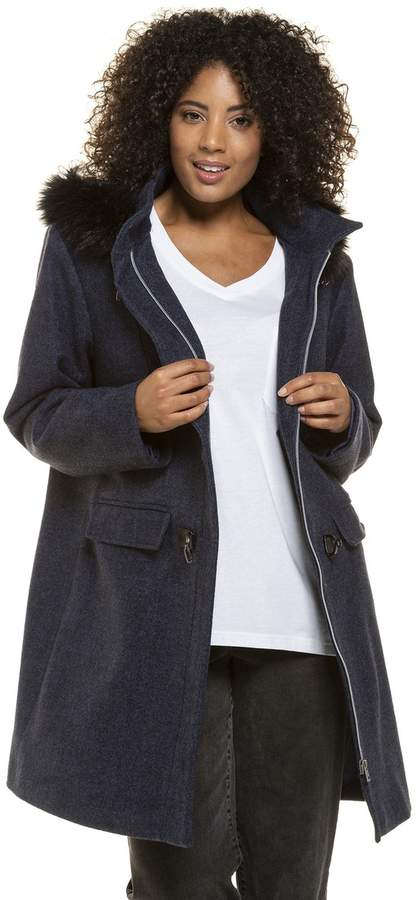 Mid-Length Hooded Duffle Coat