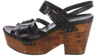 Rag & Bone Leather Platform Wedges
