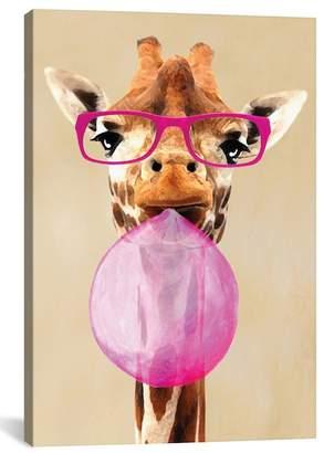 Clever Giraffe Gicl?e Print Canvas Art