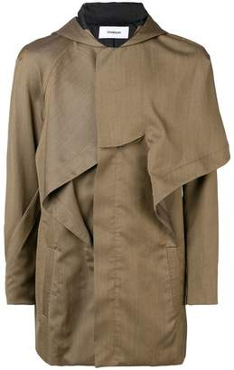 Chalayan hooded military jacket