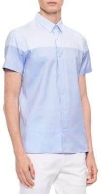 Calvin Klein Short-Sleeve Cotton Shirt