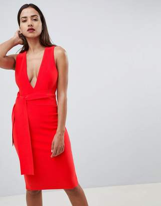 Bec & Bridge Bodycon Plunge Midi Dress