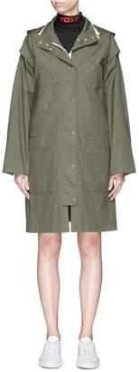 Proenza Schouler PSWL detachable sleeve hooded military coat