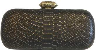 House Of Harlow Black Leather Clutch Bag