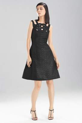 Josie Natori Lacquer Basket Weave Dress