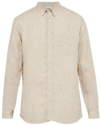Schnaydermans Schnayderman's - Pin Check Linen Shirt - Mens - Beige Multi