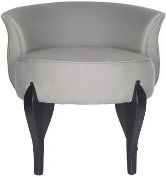Safavieh Mora French Leg Linen Vanity Chair