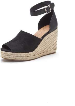 Coconuts by Matisse Black Wedge Sandals