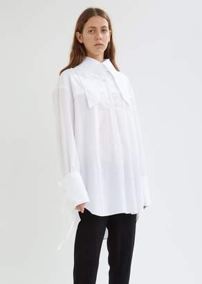 Ann Demeulemeester Cotton Poplin Shirt with Ribbon Details